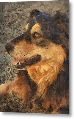 animals - dogs - Faithful Friend Metal Print by Ann Powell