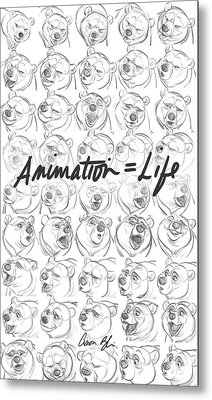 Animation  Life Metal Print