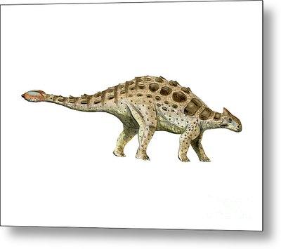 Ankylosaurus Armored Dinosaur Metal Print by Nobumichi Tamura