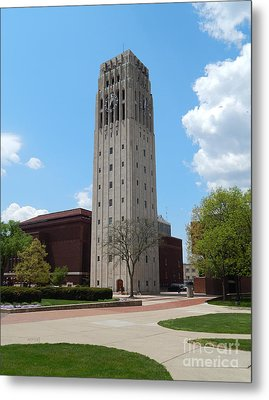 Ann Arbor Michigan Clock Tower Metal Print by Phil Perkins