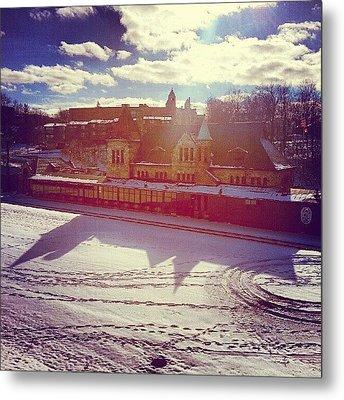 Ann Arbor Train Station Metal Print by Jill Tuinier