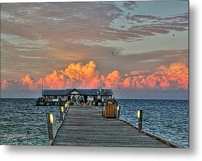 Anna Maria City Pier Metal Print by HH Photography of Florida