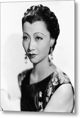 Anna May Wong, Paramount Portrait, 1934 Metal Print by Everett