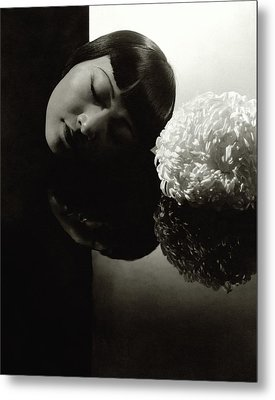 Anna May Wong Resting Her Head Metal Print by Edward Steichen