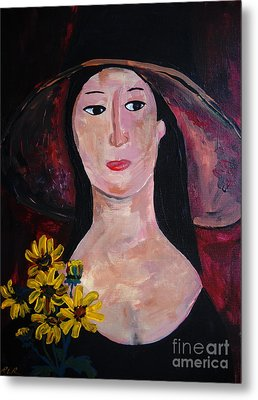 Metal Print featuring the painting Anna by Reina Resto