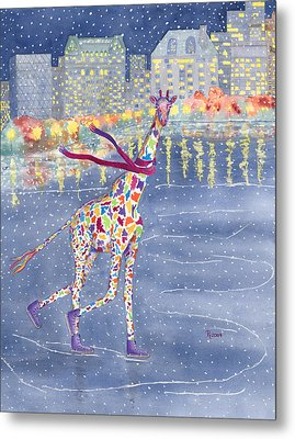 Annabelle On Ice Metal Print by Rhonda Leonard