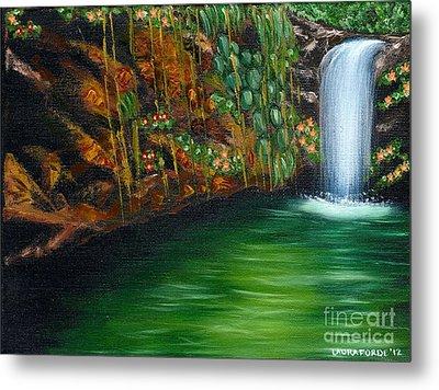 Annadale Waterfall Metal Print