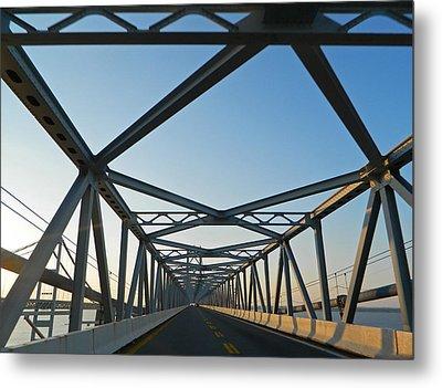 Annapolis Bay Bridge At Sunrise Metal Print