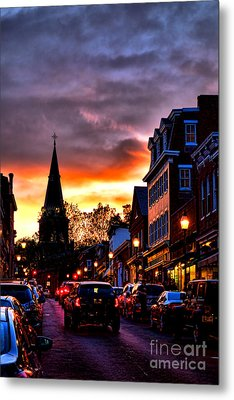 Annapolis Night Metal Print by Olivier Le Queinec