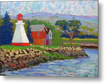Annapolis Royal Lighthouse 2 Metal Print by Rae  Smith