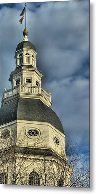 Annapolis Statehouse Metal Print by Jennifer Wheatley Wolf