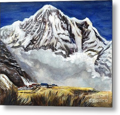 Annapurna L Mountain In Nepal Metal Print by Carol Wisniewski