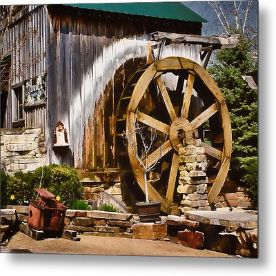 Metal Print featuring the photograph Anna's Garden Cafe by Greg Jackson
