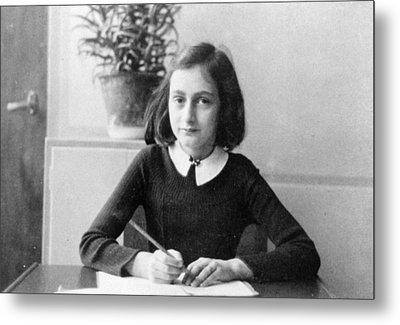 Anne Frank Metal Print by Unknown