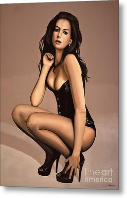Anne Hathaway Painting Metal Print by Paul Meijering