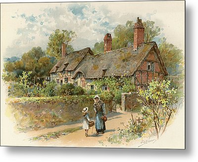 Anne Hathaway's Cottage At Shottery Metal Print