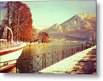 Annecy Golden Fairytale. France Metal Print by Jenny Rainbow