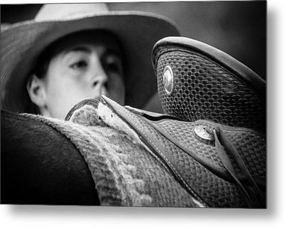 Metal Print featuring the photograph Annie's Saddle by Steven Bateson