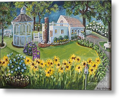 Annie's Summer Cottage Metal Print by Rita Brown
