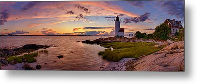 Annisquam Harbor Lighthouse After Sunset Metal Print by Scott Lynde