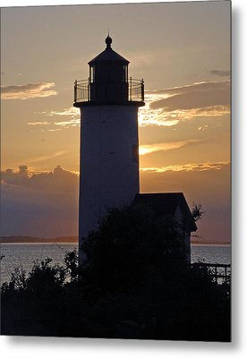 Annisquam Lighthouse Sunset Metal Print by Richard Bryce and Family