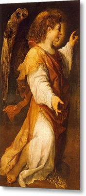 Announcing Angel Metal Print by Annibale Carracci