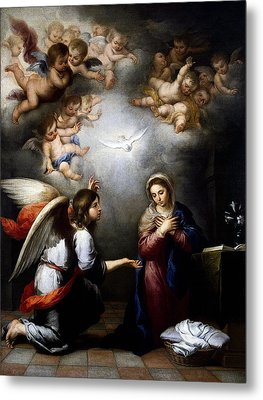 Metal Print featuring the digital art Annunciation by Esteban Murillo