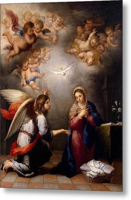 Annunciation Metal Print by Murillo