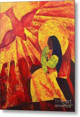 Annunciation Metal Print by Patricia Brintle