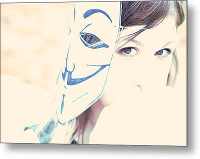 Anonymous Against Acta Metal Print by Beatrice Murch
