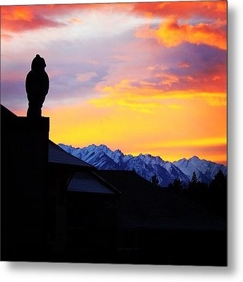 Another Awesome Bc Sunrise! #bc #canada Metal Print