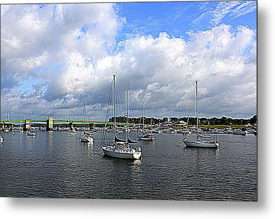 Another Beautiful Day In Newburyport Metal Print