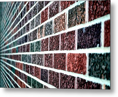 Another Brick In The Wall Metal Print by Deena Stoddard