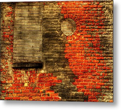 Another Brick In The Wall Metal Print by Thomas Young