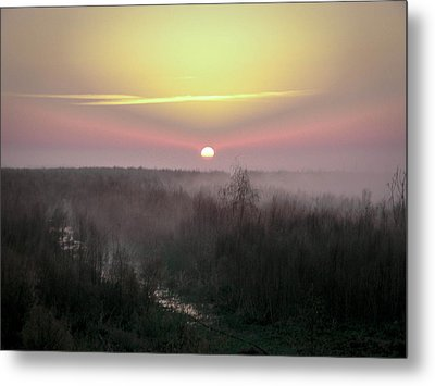 Another Dawn Over The Prairie Metal Print by Christy Usilton