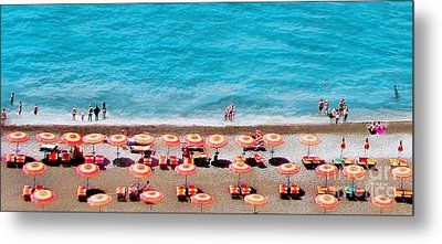 Another Day In Paradise-positano-digitized Metal Print