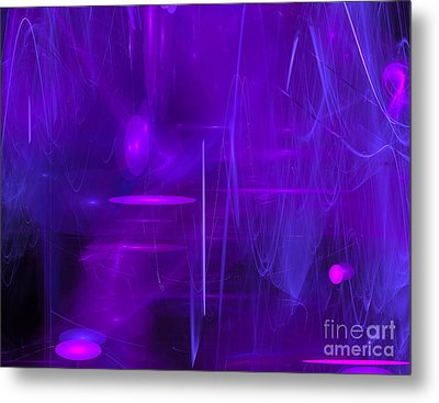 Metal Print featuring the digital art Another Dimension by Victoria Harrington