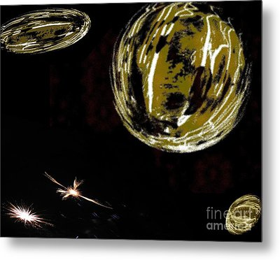 Another Earth - Abstract - Ile De La Reunion - Reunion Island - Indian Ocean Metal Print by Francoise Leandre