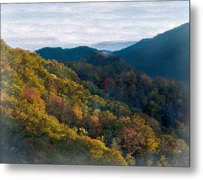 Another Fall Smoky Mountain Scenic Metal Print by Philip White
