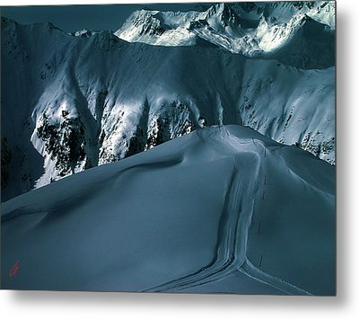 Another Late Day In The Mountains  Metal Print