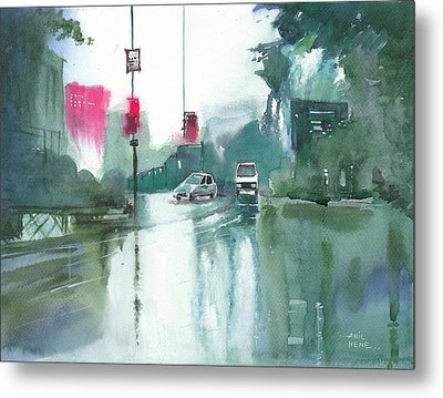 Another Rainy Day Metal Print by Anil Nene