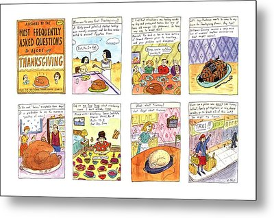 Answers To The Most Frequently Asked Questions Metal Print by Roz Chast