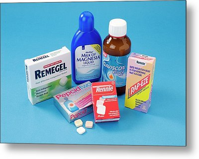 Antacid Medicines Metal Print by Trevor Clifford Photography