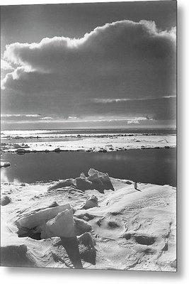 Antarctic Pack Ice At Christmas Metal Print