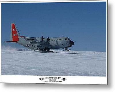 Antarctic Take-off Metal Print by David Barringhaus