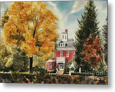 Antebellum Autumn Ironton Missouri Metal Print