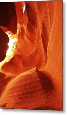 Metal Print featuring the photograph Antelope Canyon In Winter Light 1 by Alan Vance Ley