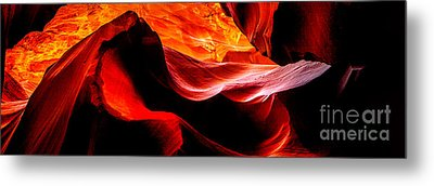 Antelope Canyon Rock Wave Metal Print by Az Jackson