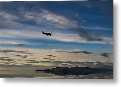 Metal Print featuring the photograph Antelope Island - Lone Airplane by Ely Arsha