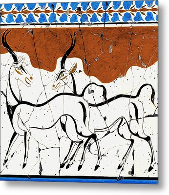 Antelope Of Akrotiri - Study No. 2 Metal Print by Steve Bogdanoff